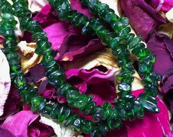"""Triple 'V"""": Vibrant, Vivacious, Verdurous - Chrome Diopside Necklace"""