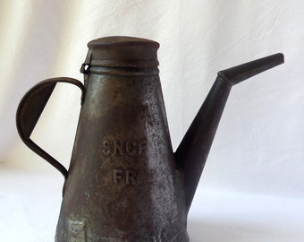 Cruet oil old SNCF / old oil can / railroader tool / railroad / trains / fat / light 1930 / poopulaire