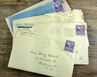 Vintage WWII Handwritten Letters-Correspondence-War Letters-Set Of 5