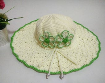 Crochet sun hat,straw sun hat, summer hat, beach accessory,fashion hat