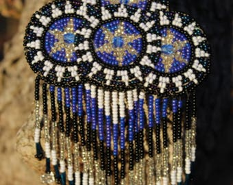 Native American beaded hair barrette.