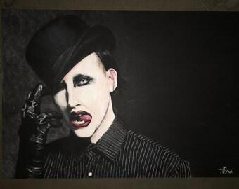 Marilyn Manson Original Oil Painting
