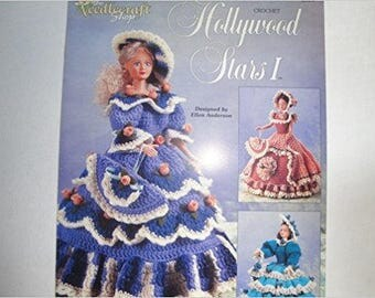 "Crochet HOLLYWOOD STARS I & II by Ellen Anderson for 17"" Hollywood Starlette Doll"