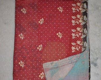 Indian Handmade Kantha Quilts Vintage Throw Bedcover Bedspread Gudri 2102 BY artisanofrajasthan
