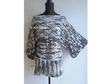 PATR1105 Xyra Crochet-pattern - Shirt - sweater - (Dutch & English-US)