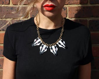 Womens jewellery, acrylic laser cut badger necklace, animal jewelry
