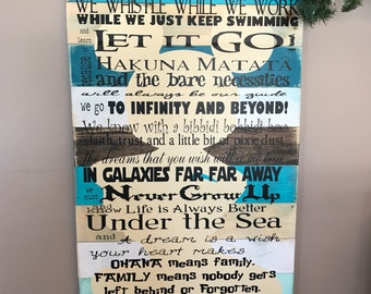 Disney Quotes We Do Disney Planked Wood Sign