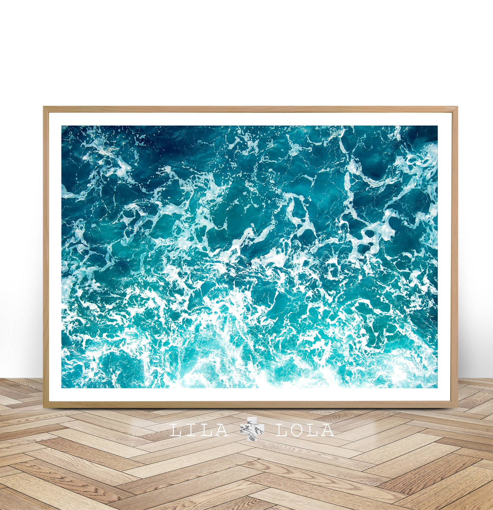 Ocean art print waves water coastal wall decor beach art for Wall artwork paintings