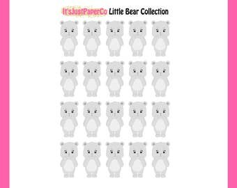 Little Bear - Angry Middle Finger Stickers