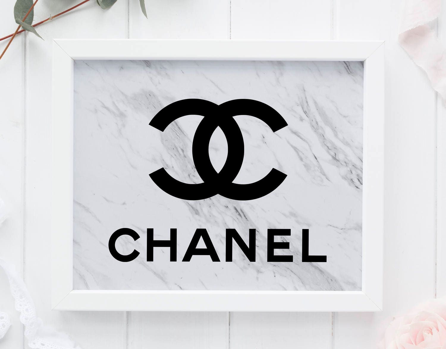 Marble Coco Chanel Tumblr Room Decor Chanel Wall Art Marble