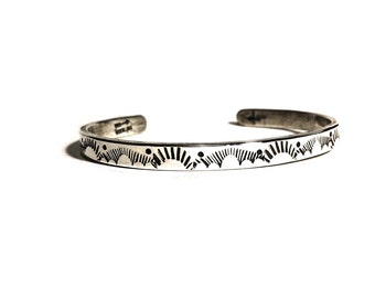 Cloud Mama Cuff, sterling silver southwest cuff, rain cloud cuff, boho bracelet,