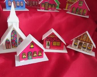 Vintage set 9 Christmas House / Vintage Together 9 house of Christmas