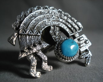 Mind Blowing 68 Gram Yeibichai Turquoise Silver Ring