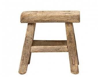 Antique wooden small stool