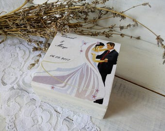 Personalized wedding décor Wooden box Personalized box Custom ring box jewelry Ring holder Ring bearer pillows White wedding box favor