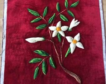 Vintage Velvet Raised Flower Cloth