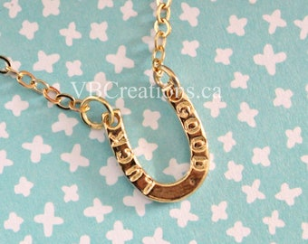 Horseshoe Necklace - Chance Necklace - Good Luck Necklace - Protection Jewelry - Gold Chain - Chance Jewelry - Gift Ideas - Mother Gift