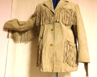 Fringed Marc Mattis pigskin coat with quilted accents