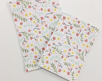 Ditsy floral pattern watercolour card