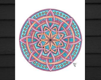 Celtic Knot, Mandala Art, Signed Print