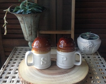 Salt and Pepper Shakers Pottery Salt and Pepper Decorative Accents Kitchen Decor Farmhouse Decor Country Decor Rustic