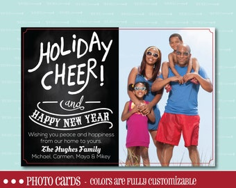 CHRISTMAS PHOTO CARD, Photo Card, Christmas, Holiday, Card, Photo,  digital Christmas card, printable card, Custom, Family, Happy New Year