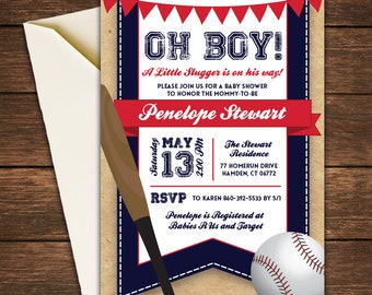 Baseball Baby Shower Invitation, Baseball Invitation, Baseball Baby Shower, Baby Shower Invitation,Little Slugger Baby Shower,Little Slugger