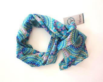 Cotton and silk blend scarf