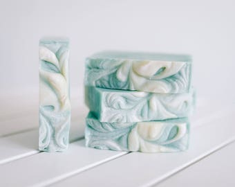 Spring Rain with Aloe and Nettle Infusion- Cold Process Soap