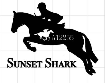 OTTB Hunter Jumper Decal