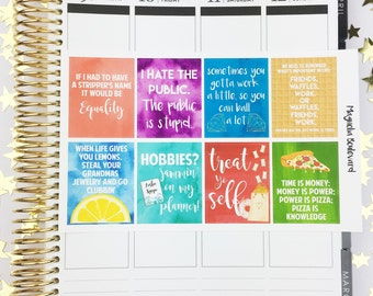 Parks and Recreation TV Show Quote Full Box Planner Stickers! Perfect for your Life Planner, Inkwell Press, etc.