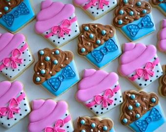 One Dozen Cupcake Sugar Cookies - Sugar Cookies