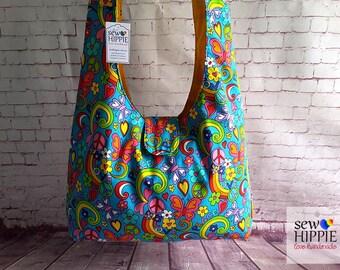 Hippie Crossbody Bag, Large Hobo Bag, Cross Body Bag, Crossbody Sling Bag, Gypsy Bag, Bohemian Bag, Hobo Purse, Shoulder Bag, Sling Bag