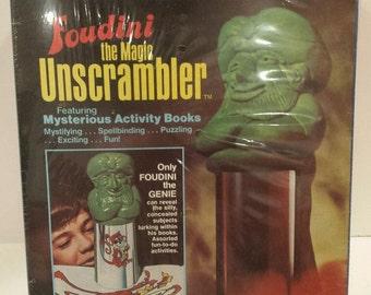 Rare!!! 1977 K&B FOUDINI THE GENIE - The Magic Unscrambler - Activity Books Sealed