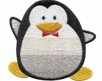 """Fat Penguin Iron On Patch 2.8"""" x 2.6"""" Inches Free Shipping"""