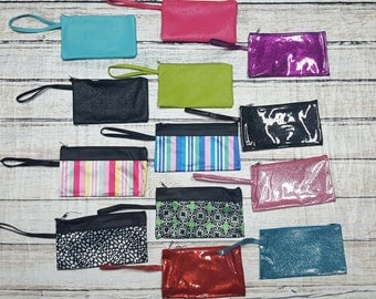 Monogrammed Wristlet Wallet, Monogrammed Clutch, Bridesmaid Gifts, Gifts for Her, Wristlet, Clutch with Strap