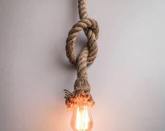 Loft Interior Rope Pendant Lighting Edison Bulb