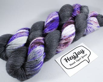 Sparkle Hand Dyed Merino Sock Yarn - Galaxy Stripe