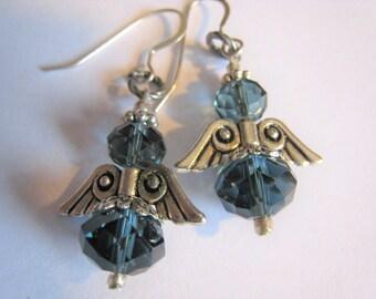 Angel Pierced Dangle  Earrings