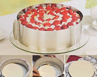 Stainless Steel Retractable Mousse Ring Round Cake Mould Mold Baking Tool