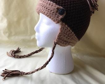 SALE** Brown Crochet Hat