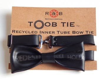 Bicycle Bike Recycled Inner Tube Bow Tie #10 By ReCycle & BiCycle