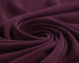 Bordeaux Red - Modal Jersey Knit Fabric