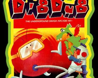 80's Atari 2600 Classic Dig Dug Video Game Art custom tee Any Size Any Color