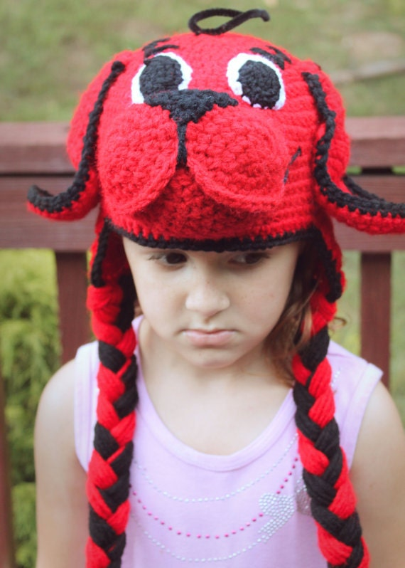 clifford the big red dog crochet pdf pattern clifford crochet pattern boys crochet hat pattern toddler crochet pattern halloween crochet - Clifford The Big Red Dog Halloween Costume