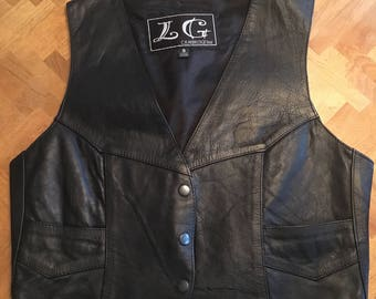 Vintage womens leather vest