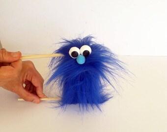 Blue Caterpillar puppet - Hand Puppet