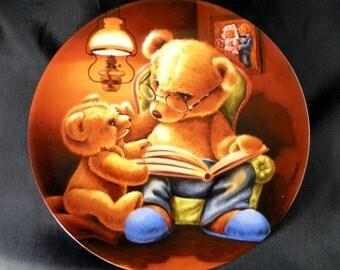 Teddy und seine Freunde  Vintage Bareuther Plate