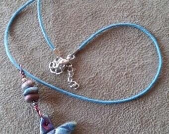 Wish Upon A Star Raku Pendant Necklace