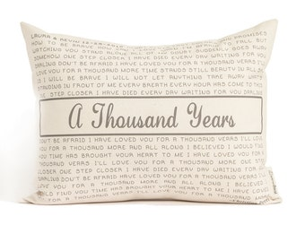 Personalized Song Pillow, Lyric Pillow, Valentines Gift, Two Year Anniversary, 2nd Anniversary, Gift for Him, Gift for Her, Home Decor